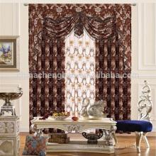 Estilo de poliéster de luxo e cortinas estilo jacquard