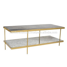 Table de console industrielle Marble and Metal 2 Tier
