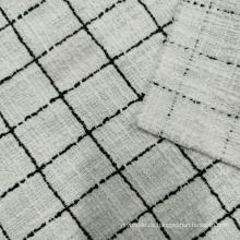 Mode-Tartan-Designstoff im Boucle-Stil