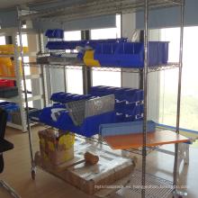 estantería de alambre de cromo / estantería de almacenamiento de servicio ligero / estante de alambre de cromo del hogar