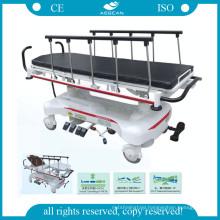 AG-HS007 aluminium alloy handrail hydraulic pump hospital stretchers for patients