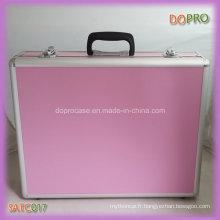 Boîtes à outils de couleur rose bon marché en gros de femmes avec l'insertion d'EVA (SATC017)
