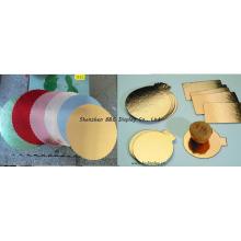 Профнастил с золотой фольги бумаги на на боковых досках торта, лоток торта с SGS (B и C-K065)