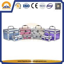 Estuche de cosméticos de aluminio acrílico para maquillaje (HB-2101)