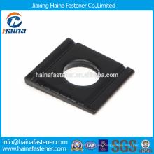 Mejor Precio DIN 6917 Acero al carbono / Acero inoxidable Arandelas cónicas de sección cuadrada para el atornillado estructural de alta resistencia de secciones de acero I