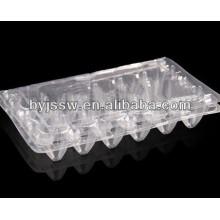 Bandeja de ovo de codorna de plástico transparente