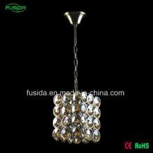Фабрика Одноместный E27 Один свет Классический свет гостиной Кристалл Люстра подвесной светильник для продажи