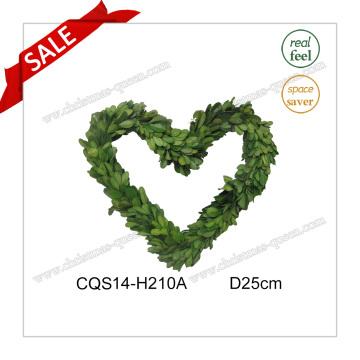 D25cm Необычные свежие листья Boxwood Венок Украшение Wall Art