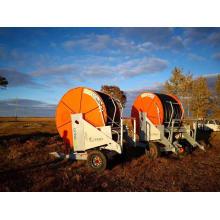 Irrigation par enrouleur de tuyau dans la zone médiane à haute efficacité