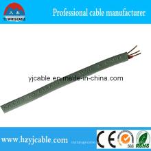 Серый цвет плоского типа оболочка электрический провод BVVB 3 ядра с заземлением провод заземления, 3X1.0mm2, 3X1.5mm2, 3X2.5mm2, горячее сбывание