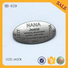 MB619 Vente en gros de mode accessoires en métal accessoires personnalisés à main
