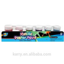 6 couleurs peinture métallisée affiche (20ml) pour le dessin des enfants