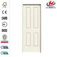 24 in. x 80 in. Smooth 4-Panel Painted Molded Single Prehung Interior Door