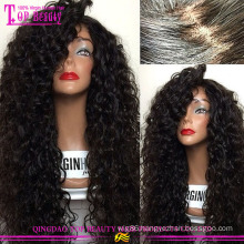 Hand made 100% human hair silk top full lace wigs hot glueless silk top full lace wig popular fashion silk top full lace wig