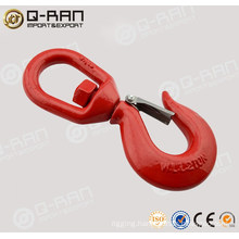 S322 Drop Forged Chain Swivel Hook with latches