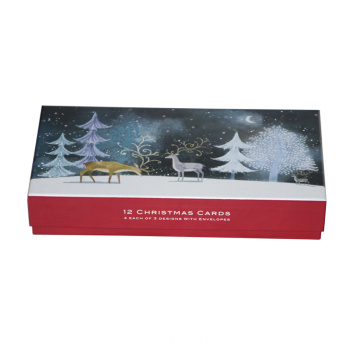 Kustom Mewah Natal Dicetak Gift Packaging Paper Box