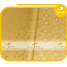 Cotton Golden African guinea bcoade top quality bazin fabric multicolor Kaftan