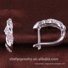 bridal earrings jewelry findings white CZ sterling silver jewelry