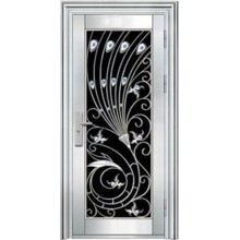 Puerta de entrada de acero inoxidable (una sola puerta)