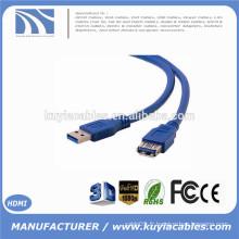 Standard USB 3.0 Un mâle à un câble d'extension femelle USB3.0 Câble AM à AF 5 mètres 5 m 16 pieds 5 Gbps Vitesse 9 + 1 noyau