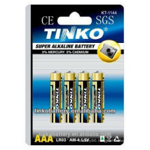 AAA size Alkaline dry Battery- LR03 with voltage of 1.5v
