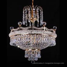 Lampe pendante antique de restaurant de cristal, éclairage industriel vintage de suspension