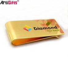 Grampos do dinheiro de metal do ouro da promoção por atacado com logotipo personalizado