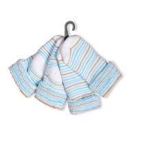 Baby Blue Strip Socks Baby Crew Turn Cuff Socks Full Terry Baby Socks