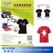 Papier d'impression de transfert de T-shirt de jet d'encre de 192GSM pour les tissus foncés (STC-T03)