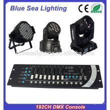 Hotsale boa luz do estágio de preço 192ch dmx console
