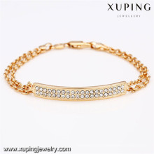 72669 xuping new fashion 18k gold plated women bracelet