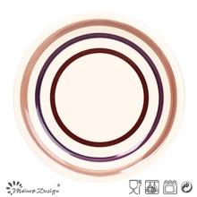 3 Circles Ceramic Dinner Plate