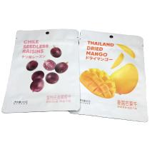 Custom Printed Food Packaging Bag For Dried Mango/Raisins 85g Heat Sealing Ziplock Bag