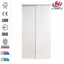48 in. X 80.50 in. 2010 Série White 1 Lite Composite Universal Porta deslizante grande