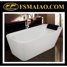 Artigos sanitários qualificados da banheira acrílica branca Shinning (9011)