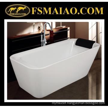 Shinning White Acrylic Bathtub Qualified Sanitary Ware (9011)