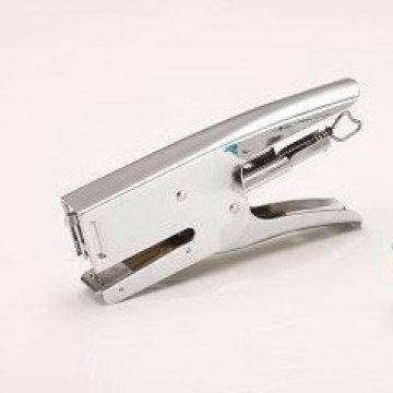 Grapadora de metal de mano blanca