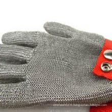 Gants de sécurité en acier inoxydable à résistance à la coupe 304L