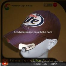 custom design bottle opener hat