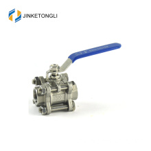 "JKTL3B062 spring loaded 3 piece water sw ss316 2 ""ball valve"