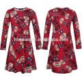 O projeto novo caçoa vestidos de festa de Natal do vestido de fantasia no vestido do bebê de China na cor vermelha