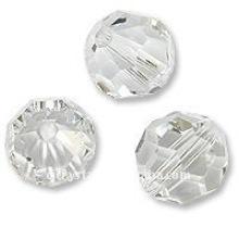 6mm facettierte runde Kristallperlen, Kristallperlen in der Masse