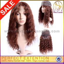 For Women Wholesales Unprocess Wavy Cute Human Hair Custom Costume Wigs