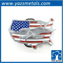 fivelas de cinto personalizadas, fivela customizada do mapa dos EUA com bandeira e águia