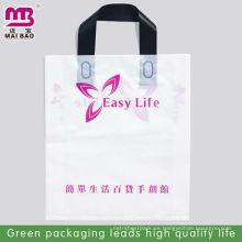 Bolsas plegables de plástico transparentes con asas de clip para colocar la ropa