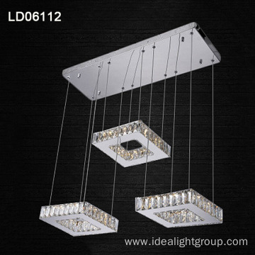 rings crystal lighting pendant lamp led chandelier