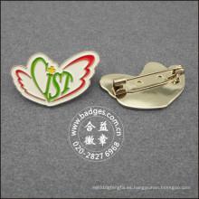 Insignia plateada promocional, Pin de solapa personalizado (GZHY-LP-091)