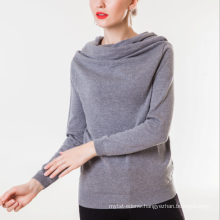 17PKCS195 2017 knit wool cashmere knitted lady sweater