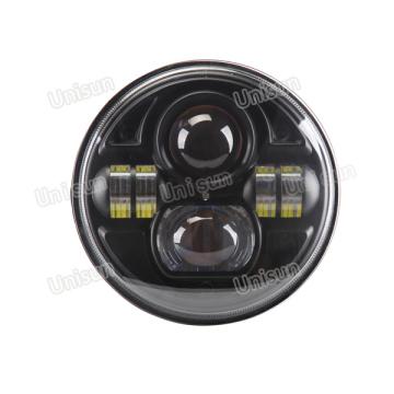 12V 73W redondo LED de haz alto y bajo LED para camión / coche / faro automático