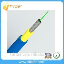 Simplex G652D cable blindado de fibra óptica con chaqueta de PVC